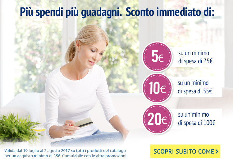 Su Lines Shop più spendi più guadagni: sconto 5 €, 10 €, 15 €