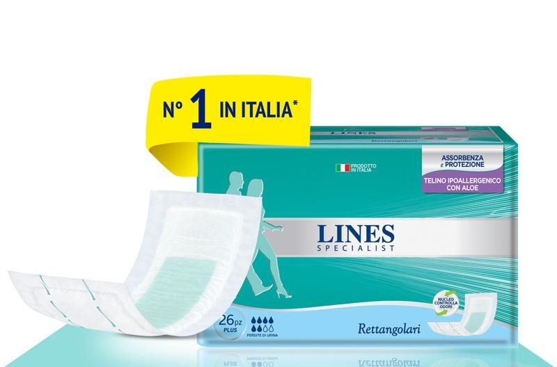 Acquista online Lines Specialist RettangolareUltra Mini | Linea prodotto Medie e Alte per uomo e donna. Lines Specialist, prodotti per perdite di urina Rettangolare