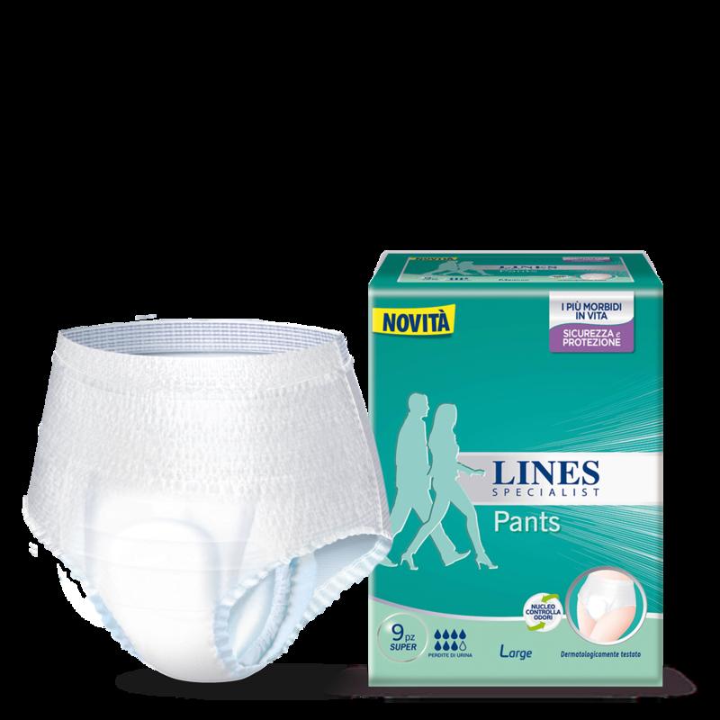 Acquista online Lines Specialist Pants SuperUltra Mini | Linea prodotto Alte per uomo e donna. Lines Specialist, prodotti per perdite di urina Pants Super - Taglia Large